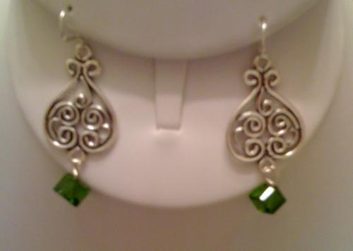 Sterling Silver Earrings with Swarovski crystal